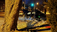 Toronto cop rushed to hospital after crash