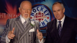 Don Cherry and co-host Ron McLean appear on 'Coach's Corner' on Saturday, Nov. 30, 2013.