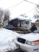 A home on Columbia Avenue was hit by arson in London, Ont. on Sunday, Dec. 1, 2013. (Talia Ricci / CTV London)
