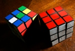 Rubik's Cubes are seen at a frat house on the campus of Brown University in Providence, R.I. Tuesday, Oct. 2, 2007. (AP / Elise Amendola)