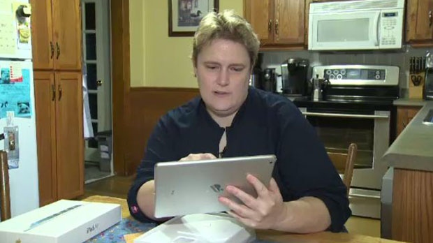 Robin Crowley was disappointed when she found what appeared to be personal information on her new iPad. -- Dec. 1, 2013