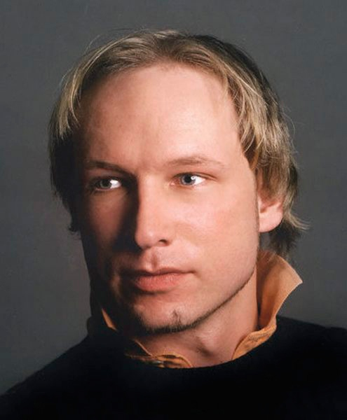 Anders Behring Breivik is seen in this undated Twitter image.