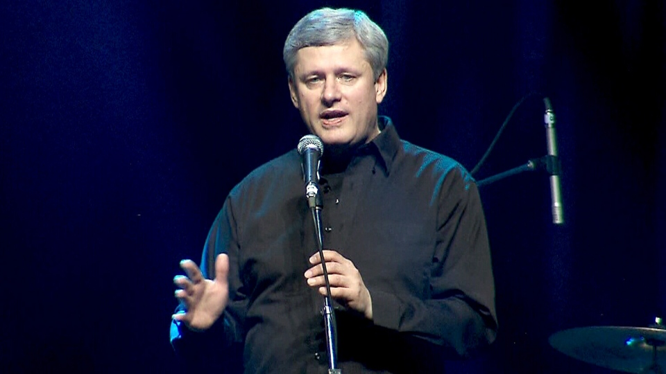 Prime Minister Stephen Harper speaks at a gala
