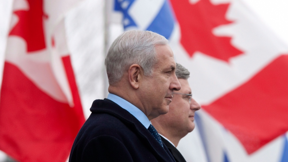 Benjamin Netanyah and Stephen Harper