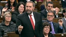 Mulcair grills Tories on Senate scandal