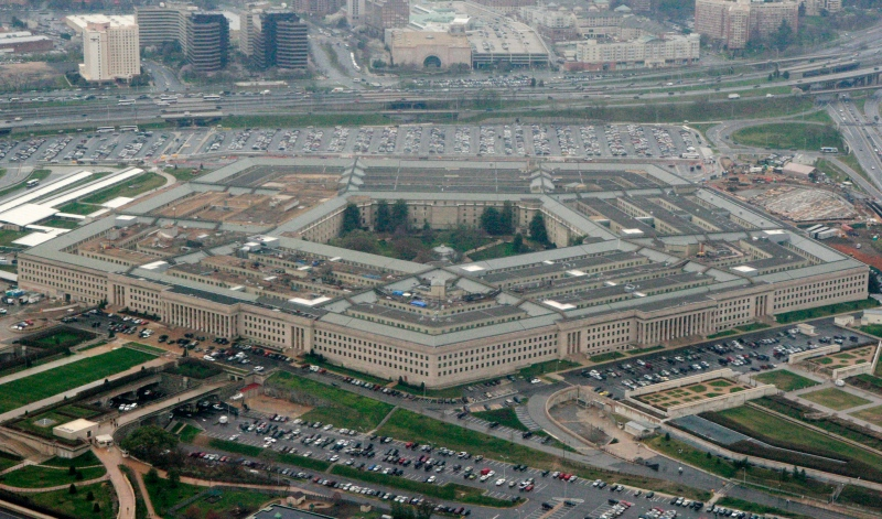 The Pentagon is seen in this aerial view in Washington, in this March 27, 2008 file photo. (AP / Charles Dharapak)