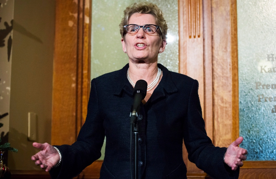 Ontario Premier Kathleen Wynne speaks after in Toronto on Dec. 3, 2013. (Mark Blinch / THE CANADIAN PRESS)