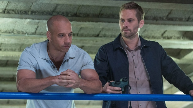 Vin Diesel and Paul Walker in a scene from 'Fast & Furious 6.' (Universal Pictures / Giles Keyte)
