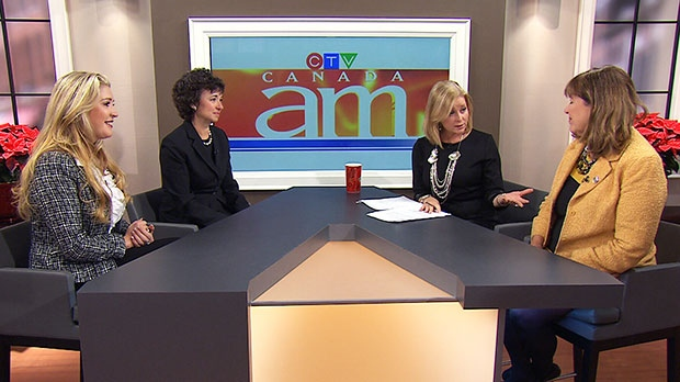 Lisa Lisson, president of FedEx Express Canada, Pamela Jeffery, WXN founder, and Rosemary McCarney, president and CEO of Plan Canada, speak with Canada AM's Beverly Thomson, Wednesday, Dec. 4, 2013.