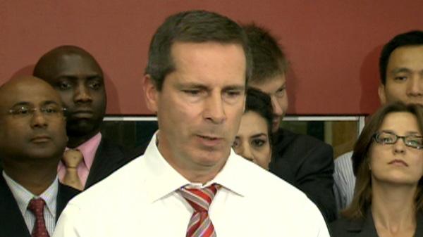 Ontario's Premier Dalton McGuinty speaks to the media in Toronto on Wednesday, July 27, 2011.