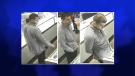 The London Police Service released this photo on Wednesday, Dec. 4, 2013 of a man they allege is responsible for several jewelry store thefts.