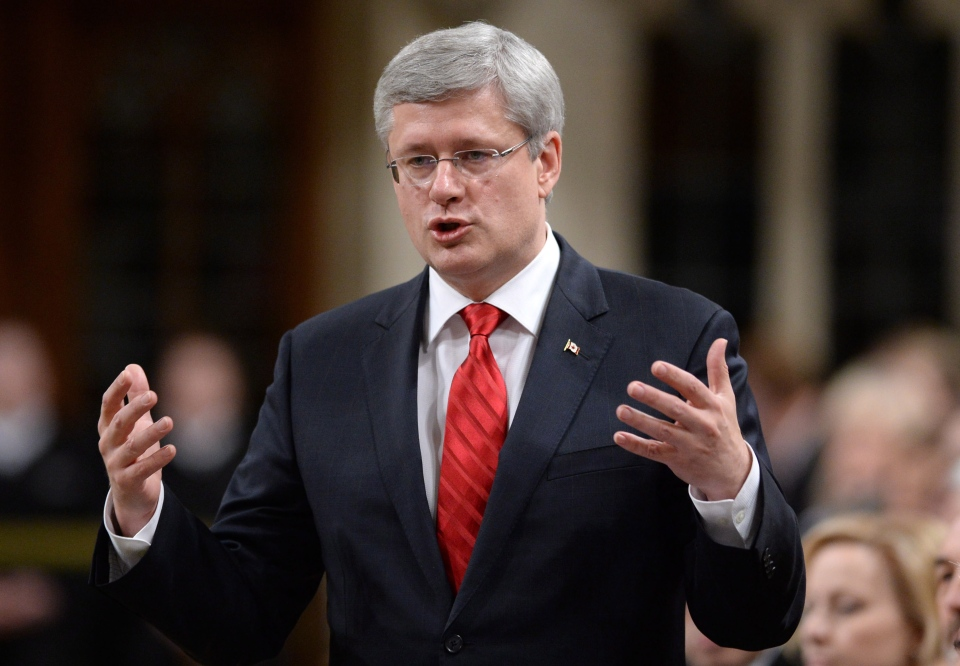 Prime Minister Stephen Harper responds to a question during Question Period in the House of Commons on Parliament Hill in Ottawa on Wednesday, Dec.  4, 2013. (Sean Kilpatrick / THE CANADIAN PRESS)
