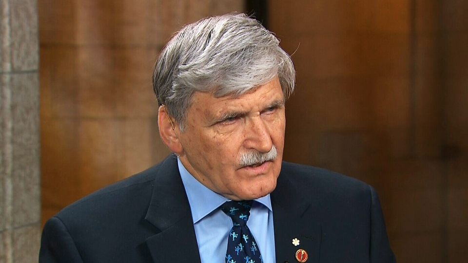 Sen. Romeo Dallaire appears on CTV's Power Play in Ottawa on Wednesday, Dec. 4, 2013.