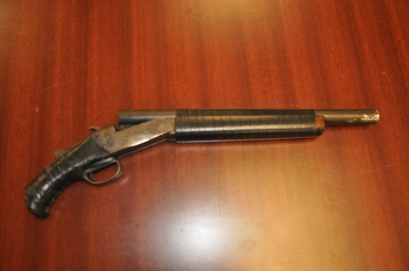 The London Police Service released this photo of a shotgun seized during a search of a home following a traffic stop that led to charges.