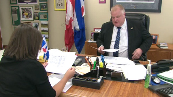 CTV's Naomi Parness interviews Mayor Rob Ford on the city's credit cards that are used by nearly 1,200 employees.