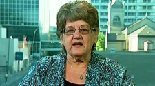 Janet Goodin, a 66-year-old grandmother from the U.S. spent 12 days in custody because guards erroneously thought she had heroin in her vehicle, appears on CTV's Canada AM on Thursday, July 28, 2011.