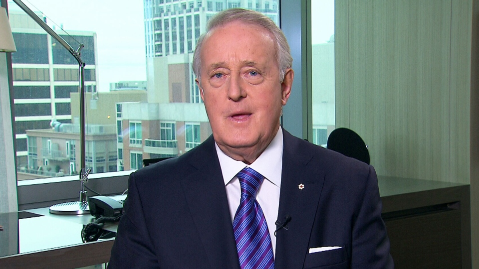 Former prime minister Brian Mulroney appears on CTV's Question Period on Sunday, Dec. 8, 2013.