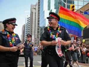 Toronto Police took part in the Pride festivities. (Richard Wahab /CTV Toronto)