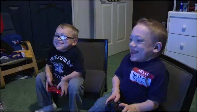 Wingham brothers Lucas and Zane Braun are undergoing clinical drug trials for a rare genetic disorder Morquio A Syndrome. Photo taken by CTV Kitchener/Saturday, December 8, 2013.