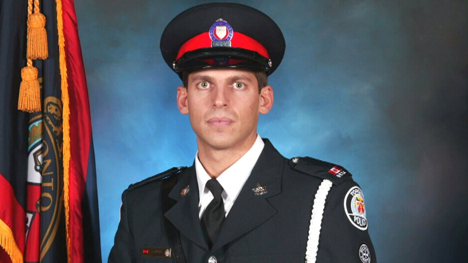 Officers across Canada are in Toronto to attend a memorial service for Const. John Zivcic, who died last week following a car crash.