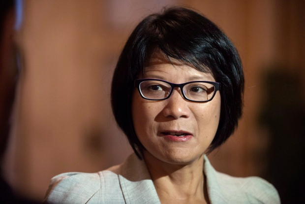 NDP MP Olivia Chow addresses the media at a national caucus strategy session on Wednesday, September 11, 2013 in Saskatoon. (Liam Richards / THE CANADIAN PRESS)