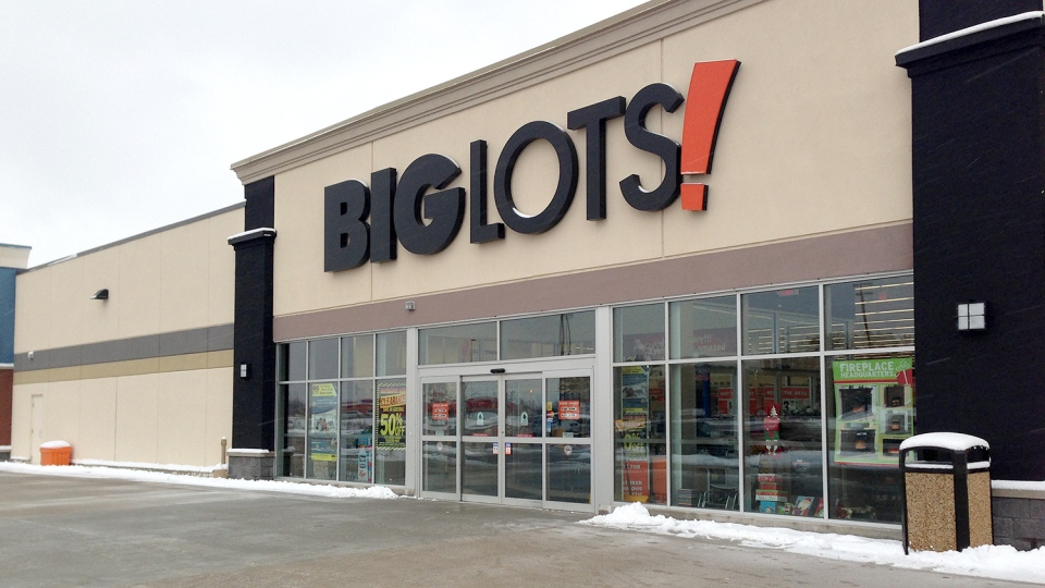 The Big Lots location in Orillia is seen Dec. 9, 2013. (Courtney Heels / CTV Barrie)
