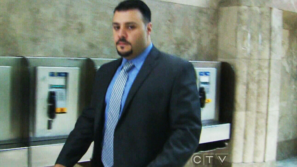 Const. Babak Andalib-Goortani appears at a Toronto court on Monday, Dec. 9, 2013.