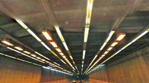 The massive concrete slab that tumbled onto the highway was part of the roof structure within the Ville Marie tunnel. (Image Google maps)