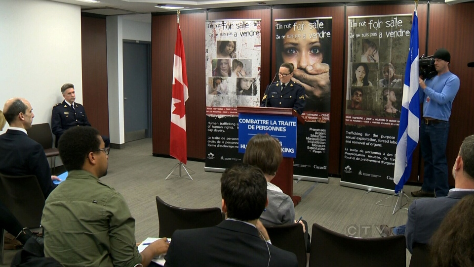 RCMP trafficking announcement