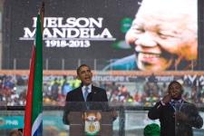 Barack Obama, Nelson Mandela Memorial