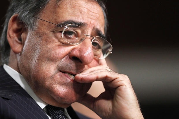Then-CIA Director nominee Leon Panetta testifies on Capitol Hill in Washington in this June 9, 2011 file photo. (AP / Manuel Balce Ceneta)