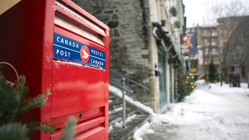 A Canada Post mailbox is seen in this undated photo.
