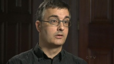 Trudo Lemmens, who is a professor at the University of Toronto, is seen speaking to CTV News in this undated image.