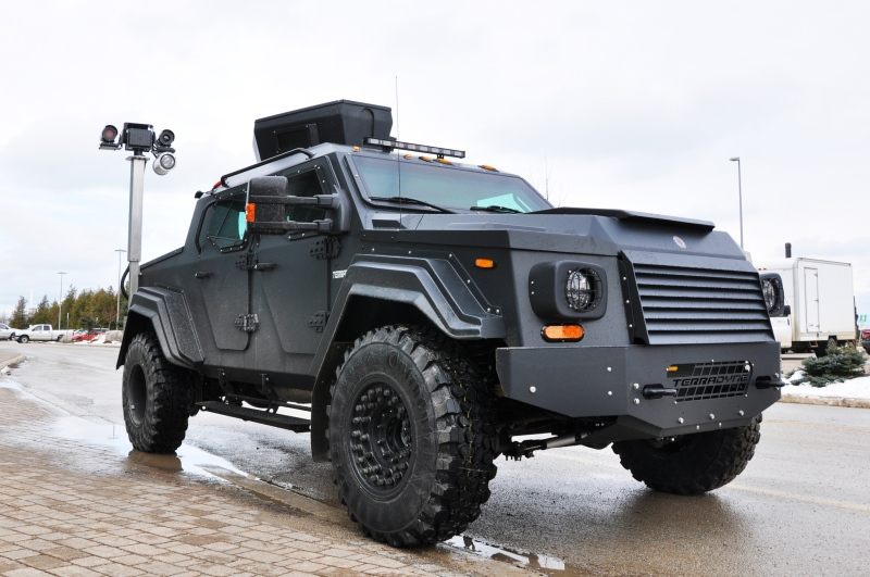 A photo provided by Bruce Power shows the 'GURKHA,' made by Terradyne Armored Vehicles Inc. of Newmarket, Ont., which has been purchased for the company's security.