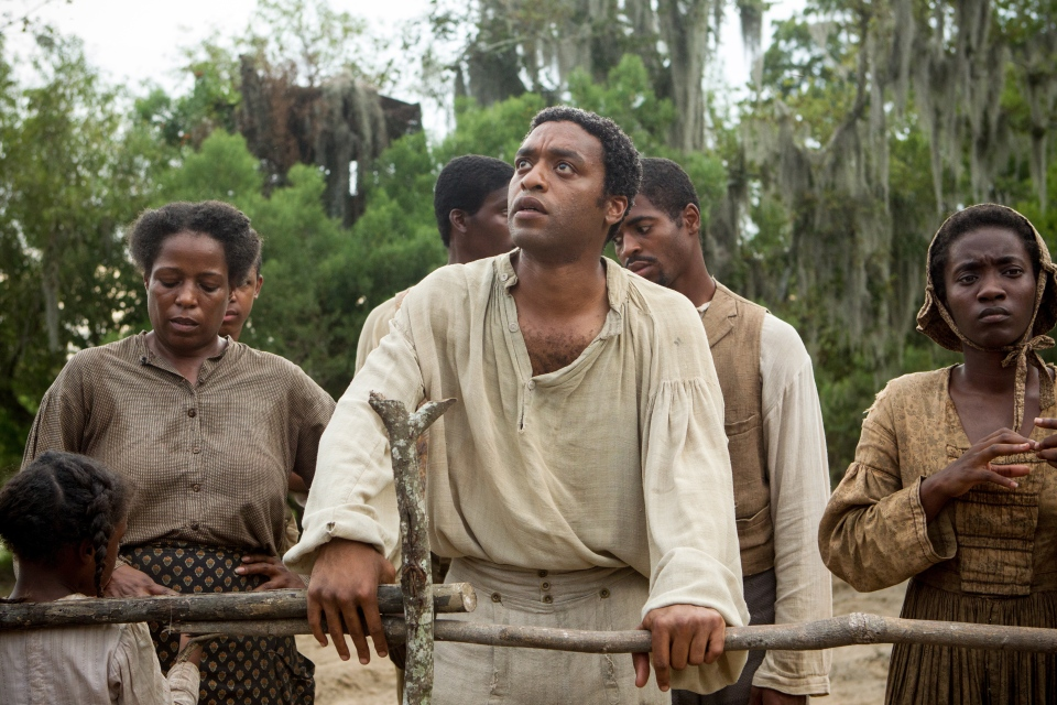 Chiwetel Ejiofor, centre, in a scene from '12 Years A Slave'