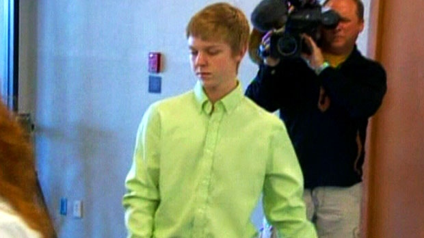 A North Texas teen from an affluent family, who was sentenced to probation after he killed four pedestrians, is seen in this image taken from video.