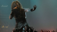 File. Rob Zombie performs during the second annual Revolver Golden Gods Awards in Los Angeles, Thursday, April 8, 2010. (AP Photo/Chris Pizzello)