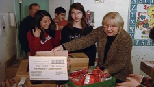 Students donate to Debra Dynes