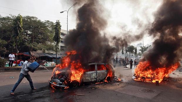 Protest in Dhaka, Bangladesh