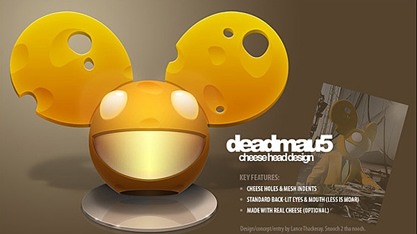 A screen capture from the Talenthouse blog of the winning helmet in Deadmau5's design competition.