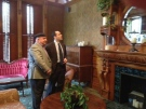 Shmuel Farhi, left, speaks with CTV's Nick Paparella at the Idlewyld Inn in London, Ont. on Friday, Dec. 13, 2013.