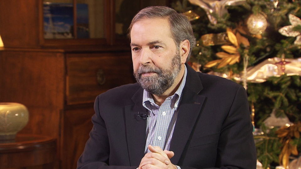Opposition Leader Thomas Mulcair discusses MP Bruce Hyer's decision to step down from the NDP to join the Green Party on CTV's Power Play on Friday, Dec. 13, 2013.