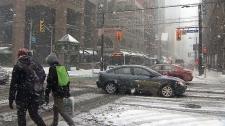 Heavy snowfall in Toronto