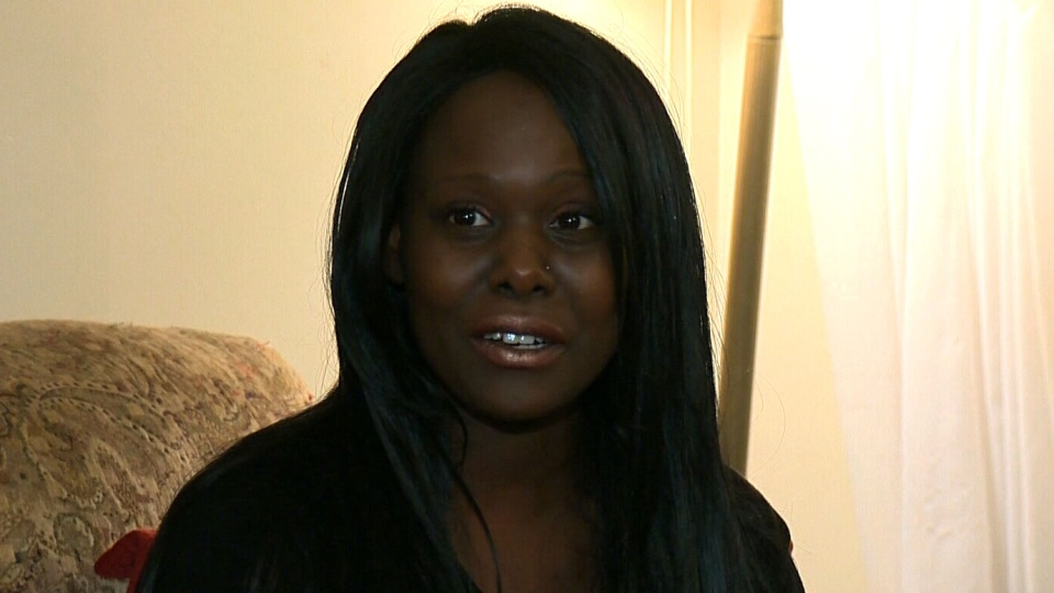 Manuella Laira speaks about her battle with lymphoma with CTV Montreal in this undated image.