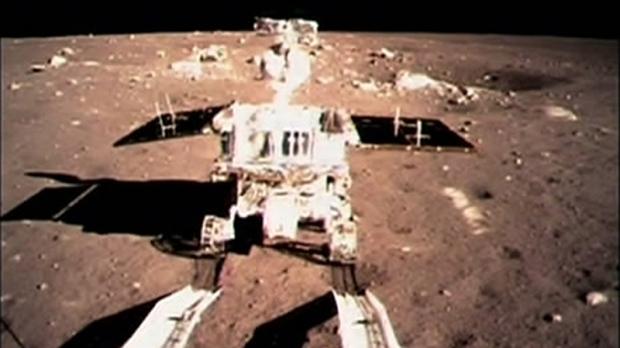 China's 'Jade Rabbit' on the moon's surface