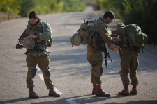 IDF soldiers in Rosh Hanikra