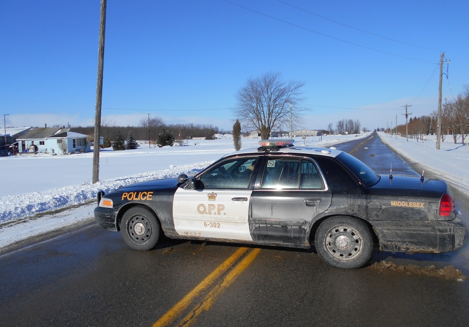 Car Crash In Middlesex Ontario