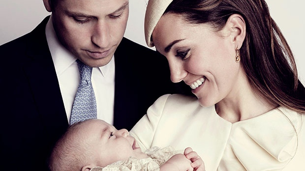 The official christening photo of Prince George