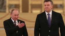 Putin and Yanukovych in Moscow, Russia