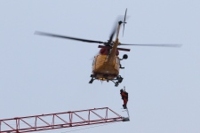 Chopper rescues crane operator in Kingston